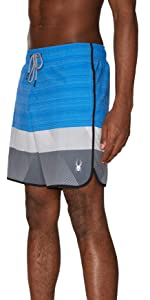 Spyder Men/'s Hydro Series Laser-Cut Boardshorts Quick Dry Lightweight Swimwear