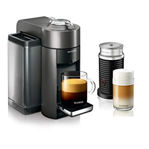 Nespresso Vertuo Coffee and Espresso Machine Bundle by DeLonghi with Aeroccino Milk Frother and BEST SELLING COFFEES INCLUDED