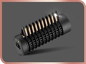 BaByliss AS545E Cepillo rotativo de aire con 4 cabezales, base cerámica, tecnología iónica, aerodinámica termica, 2 Velocidades, color blanco: Amazon.es: Salud y cuidado personal