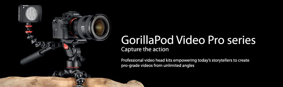 joby;gorillapod video;professional ball head;fluid head;tripod leg wrap;bluetooth shutter