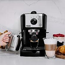 DeLonghi EC155 15 BAR Pump Espresso and Cappuccino Maker