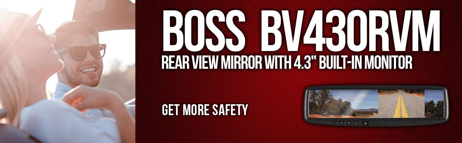 ba5dfae5 a04f 4ec9 a200 39e5ddee4381._SR970300_ amazon com boss audio bv430rvm rear view car mirror with 4 3 inch Koolertron Backup Camera Installation Diagram at gsmx.co