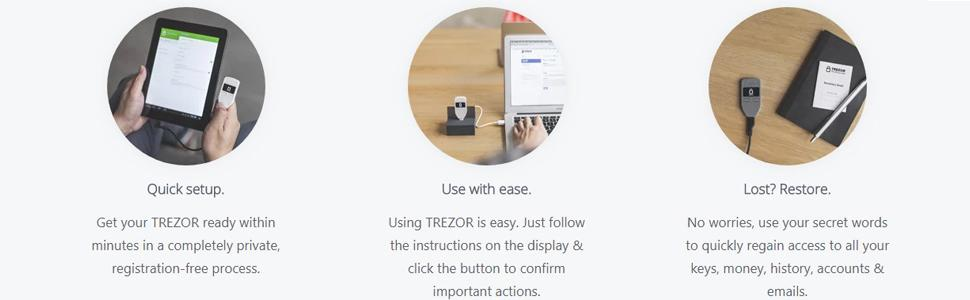 Trezor One - Digital Bitcoin Hardware Wallet and Password Manager - Cold Storage for Cryptocurrency - Ultimate Security and Protection - Supports ...