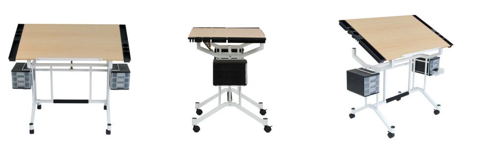 craft table, craft desk, art desk, drawing desk, studio designs desk, desk with storage