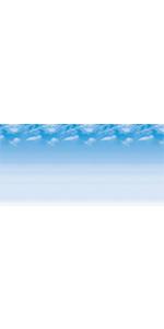 """Fadeless Bulletin Board Art Paper, Wispy Clouds, 48"""" x 50', 1 Roll"""