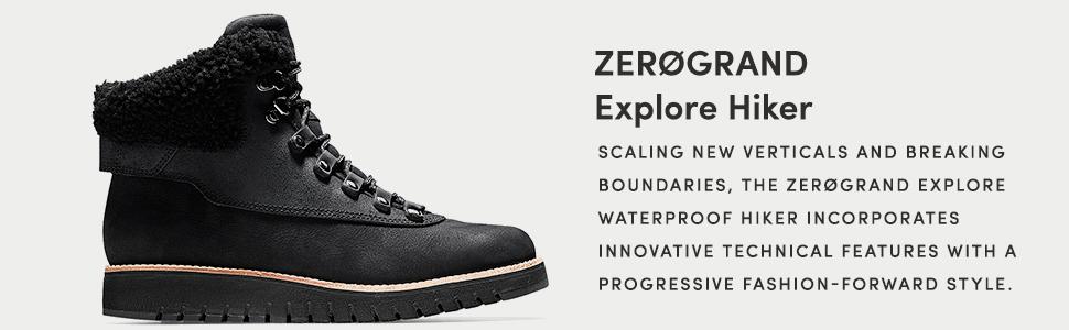 7eb22ff7bc1 Cole Haan Women's Zerogrand Explore Hiker Waterproof Hiking Boot