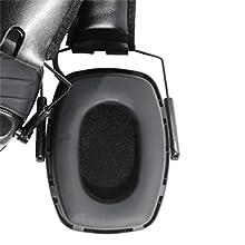 electronic shooting earmuffs, shooting hearing protection, earmuffs for shooting