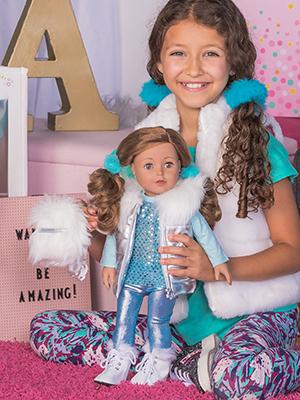 "adora, amazing girls, play doll, 18"" dolls, american girl, cute, tween, doll, 18inch, ava, hispanic"