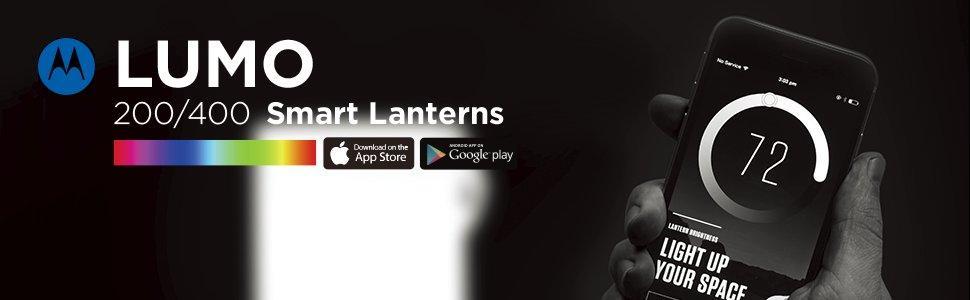 Motorola Lumo 400 résistant à l/'eau Smart Bluetooth Lanterne Lampe 400 lm Camping