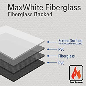 Elite screens maxwhite fiberglass front multi layer enhance contrast nature color wide viewing angle