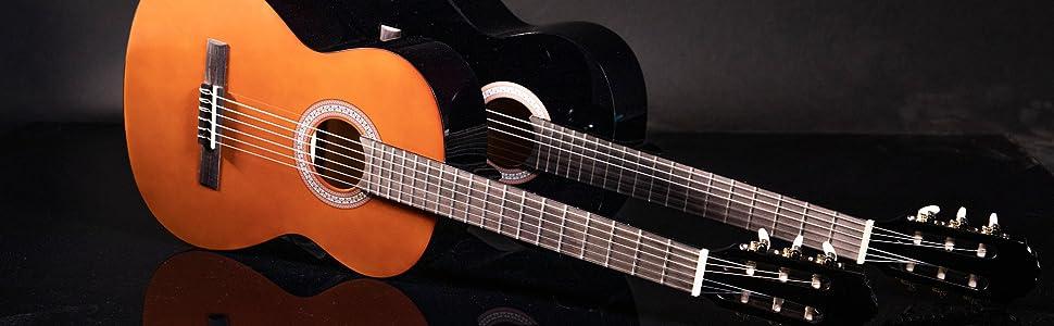 Navarra NV11 - Guitarra clásica, Miel, 4/4: Amazon.es ...