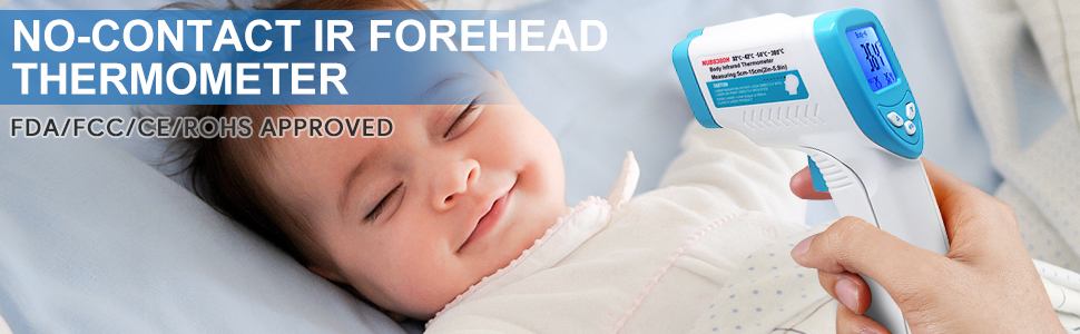 infrared laser ir thermometer adult for kids and adult non contact medical forehead ear thermometer