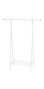 white small clothing stand, clothing stand, small white clothing stand, clothing hanger stand,