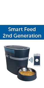 pet feeder, cat feeder, automatic pet feeder, dog feeder, feed dog while away, connected feeder