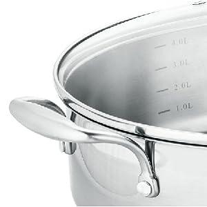 Amazon.com: Juego de ollas y sartenes de cocina de acero ...