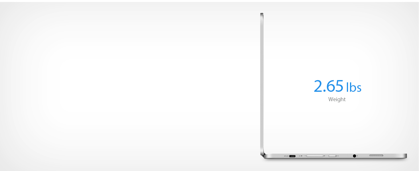 Thin, sleek, lightweight design