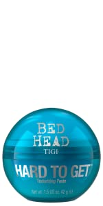 tigi bed head bedhead hard to get hair styling paste texturising texture hold control hairstyle