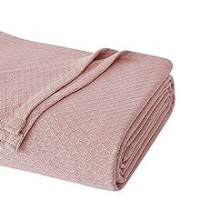 blush pink blanket