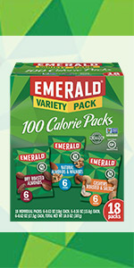 100 calorie nuts, nuts, emerald nuts, cashews