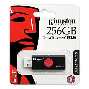 DT106, USB, Kingston, Data, Traveler, storage, black, red