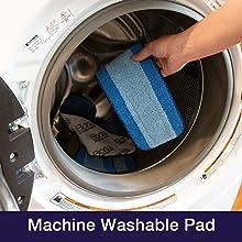 machine washable pad, sustainable, reusable, microfiber