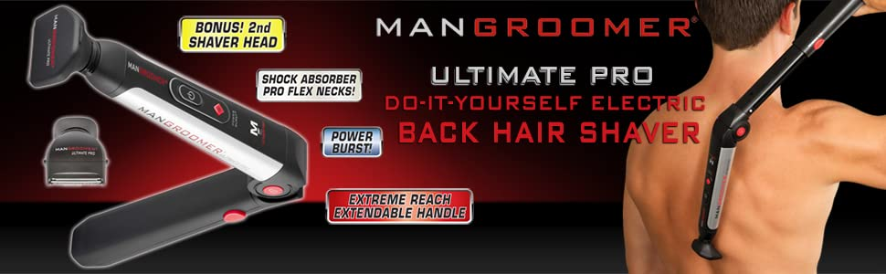 Amazon mangroomer ultimate pro back hair shaver with 2 shock back hair shaver mangroomer back hair shaver back shaver ultimate pro back hair solutioingenieria Gallery