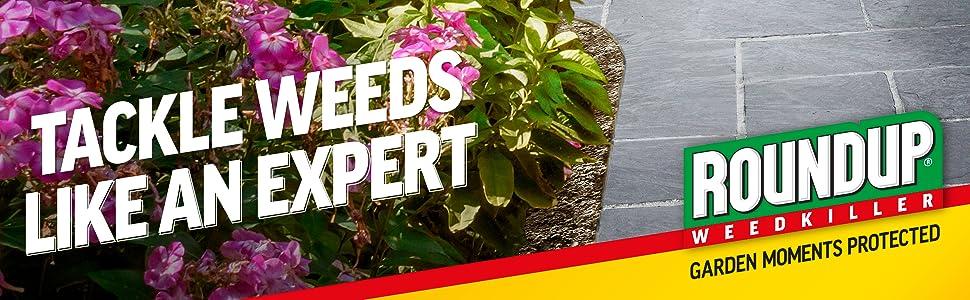 Herbicida Roundup listo para usar, enfrenta las malas hierbas como un experto.