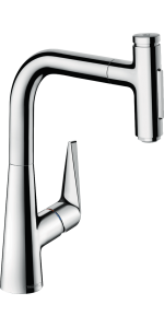 Hansgrohe Talis Select S Premium 1 Handle 16 Inch Tall Kitchen Faucet With Pull Down Sprayer With Quickclean In Chrome 72823001 Amazon Com