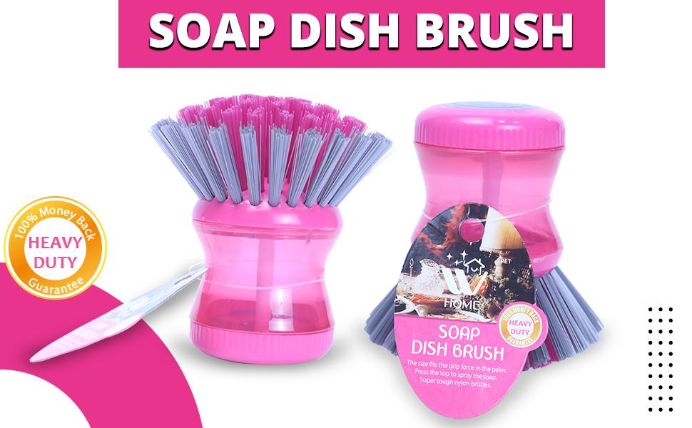 soap dish brush, soap brush, mini dispensing brush, soap dispensing brush , soap brush