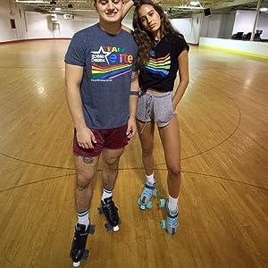 New Black Roller Skates Roller Derby Stomp 5 Elite Men Size 4-12