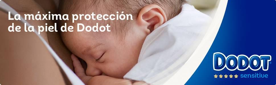 Dodot Pañales Protection Plus Sensitive, Talla 2, para Bebes de 4-8 kg - 92 Pañales