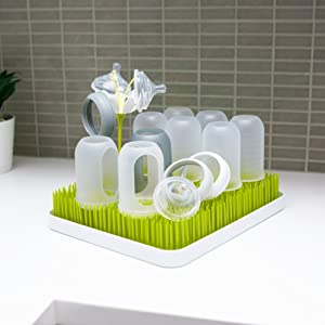 boon STEM baby bottle drying rack nipple sippy cup