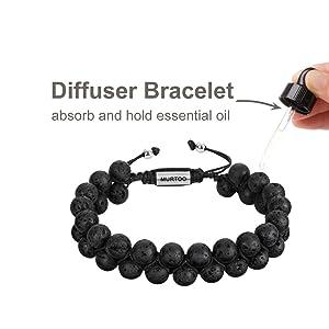 essential oil diffused bracelet