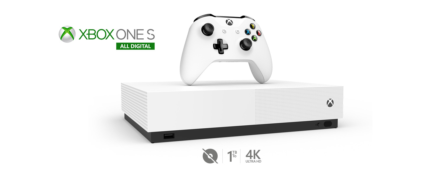 Passa al gioco digitale con Xbox One S All-Digital Edition