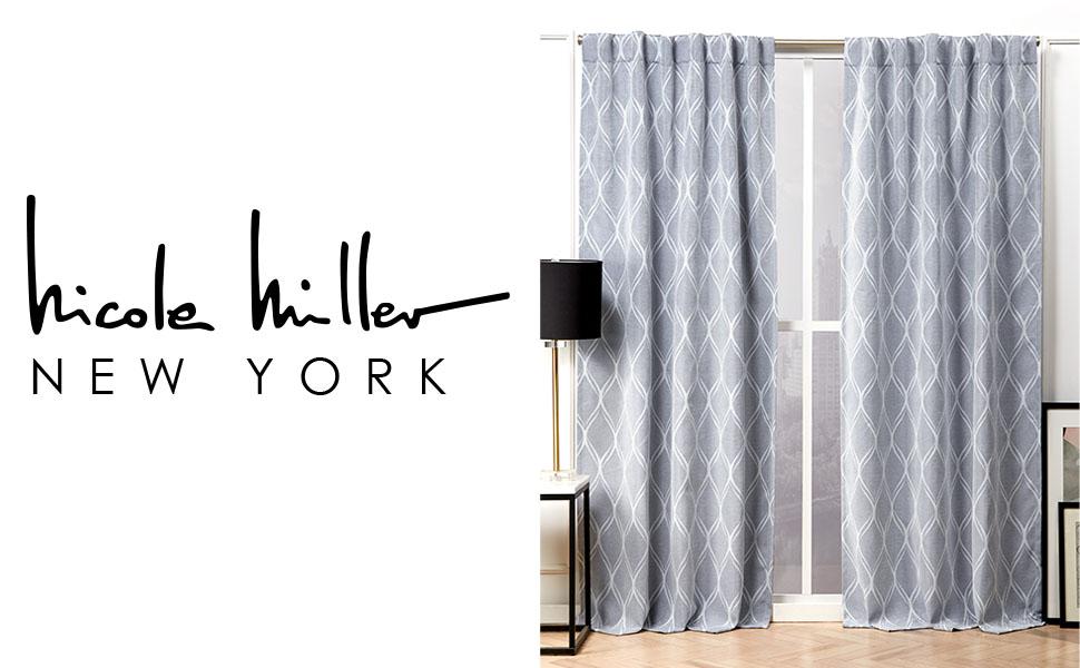 nicole miller, nicole miller home, nicole miller home decor, designer home decor, curtains, curtain