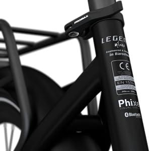 Legend Milano Bicicleta Eléctrica Urbana Smart eBike Ruedas de 26 Pulgadas, Frenos de Disco Hidráulicos, Batería 36V 14Ah Panasonic (504Wh), Autonomía hasta 100km, Negro Onyx: Amazon.es: Deportes y aire libre