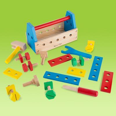 Melissa Amp Doug Take Along Tool Kit Wooden Construction Toy