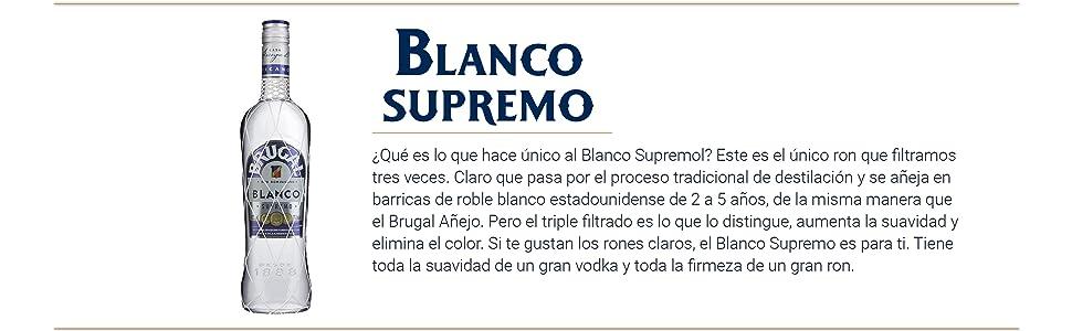 Brugal Blanco Supremo Ron Dominicano, 40% - 700 ml