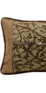 Highland Lodge Tree Lumbar Pillow with Buckle Detail