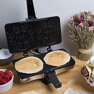 Amazon Com Krumkake Baker By Cucina Pro 100 Non Stick