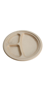 compostable 9 inch 3-compartment plates