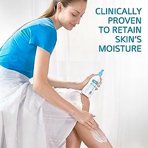 Clinically Proven to retain skin's moisture