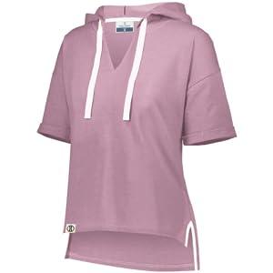 Womens Girls Ladies Short Sleeve Hoodie Light Comfortable crop hoodie for women loungewear
