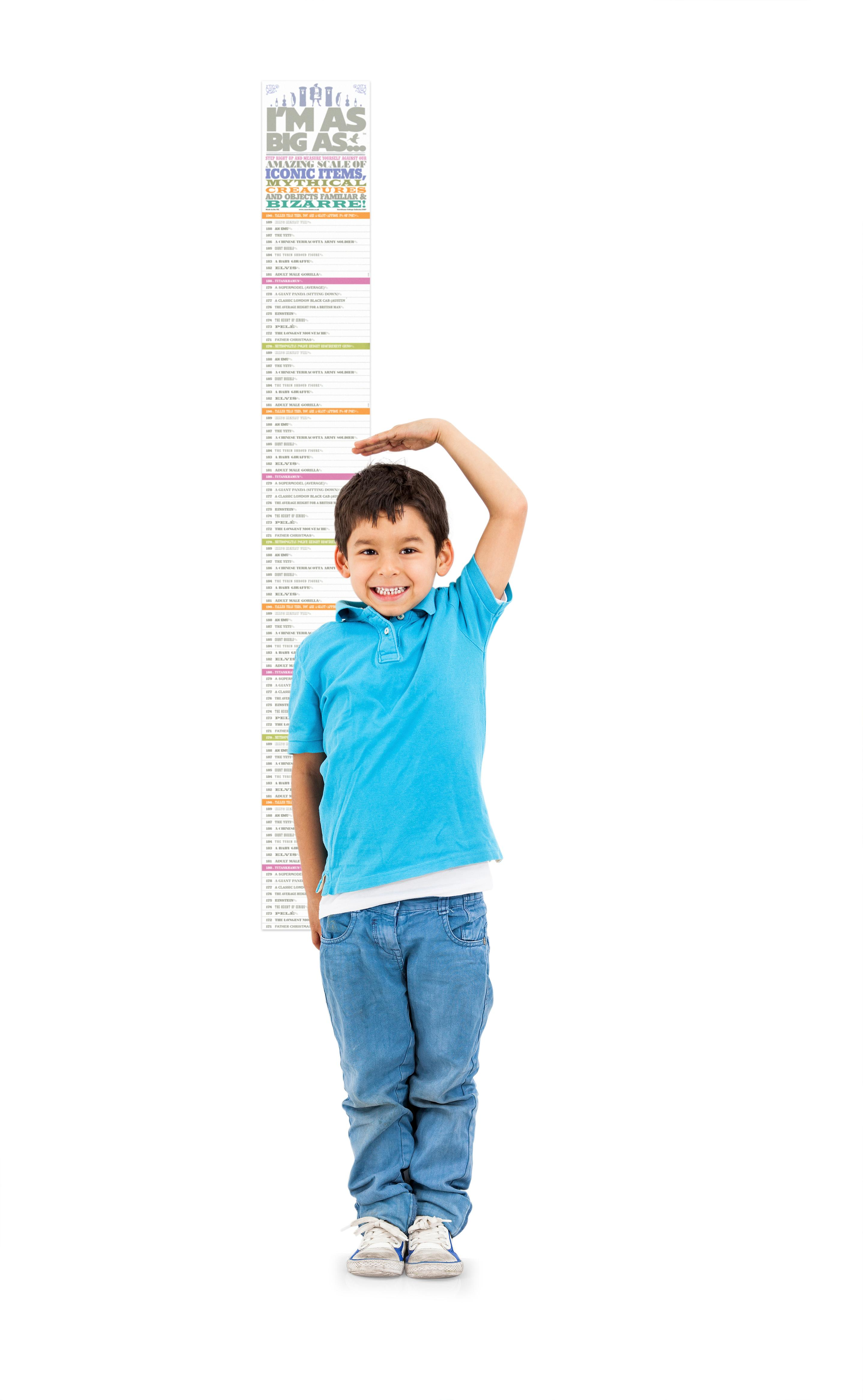 Im as big as height chart fun gift for growing kids luckies from the manufacturer height chart nvjuhfo Gallery