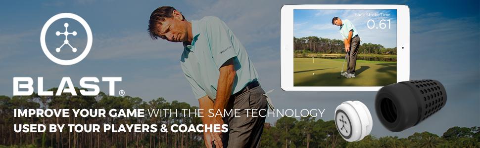 Amazon Com Blast Golf Swing Trainer Analyzes Swing