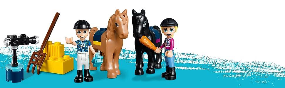 Friends, horses