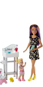 Barbie Chelsea, Carrito de Helado · Barbie Chelsea, muñeca vamos de Picnic · Barbie Muñeca Skipper hermana de Barbie