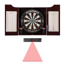 open dart cabinet elite set scoreboards and laser throw line
