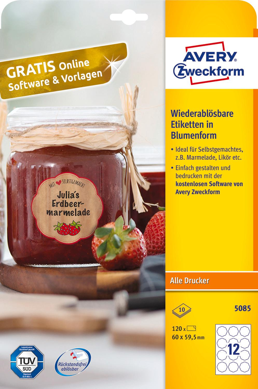 AVERY Zweckform Marmeladenetiketten Art. 5081 (80 ...