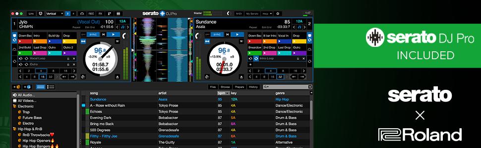 Roland DJ-707M footer